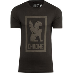 Chrome Large Lock Up Camiseta Hombre, black/black graphic
